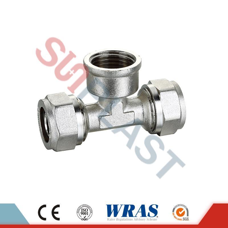 Brass-kompressioon-naisterätik PEX-AL-PEX mitmekihilise toru jaoks