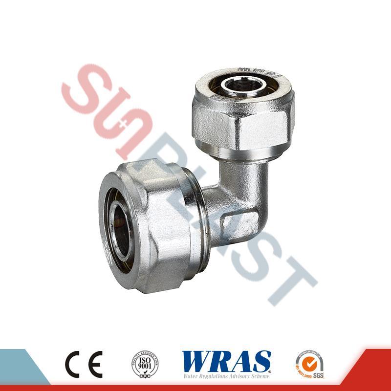 Brass-kompressioonküünarnukid PEX-AL-PEX mitmekihilise toru jaoks